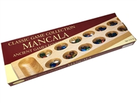 Deluxe Wood Mancala with Glass Beads