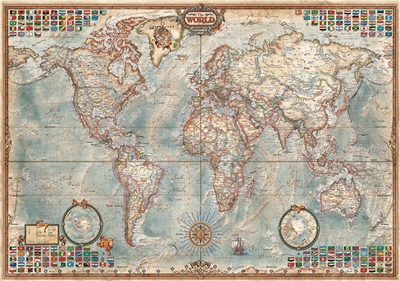 The World Executive Map - Educa 4000 Piece Puzzle