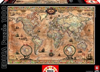 Antique World Map- Educa 1,000 Piece Puzzle