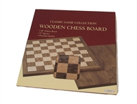 "18"" WALNUT CHESS BOARD"