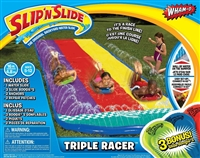 Three-laned Slip n Slide with inflatable boogies