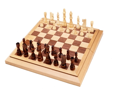 "15"" Wood Chess/Checkers Combo Set"