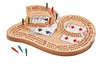 "3-Track ""29"" Cribbage Board with Playing Cards"