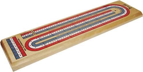 3-Track Color Cribbage Board