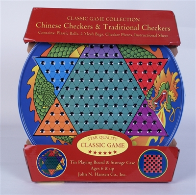 Chinese Checkers and Traditional Checkers in Tin