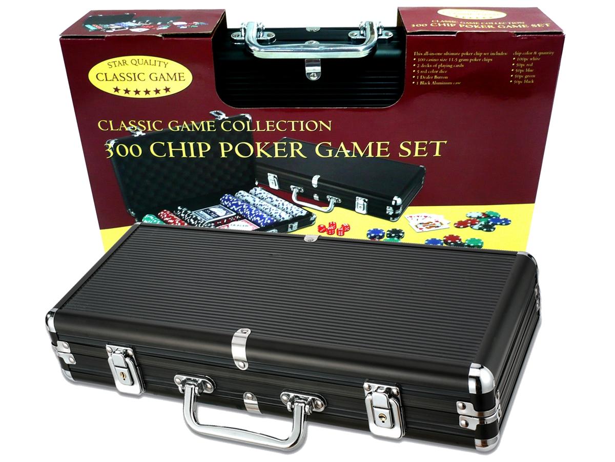 Case Poker In Heavy Aluminum Chips 300 Black Weight S80wqR
