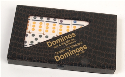 Double Six Dominoes - Ivory Tiles