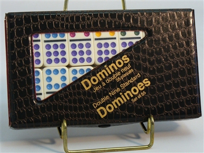 Dominoes Double Nine Color Dots