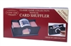 Manually Operated Card Shuffler with Two Decks of Cards