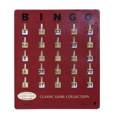 Bingo Shutter Cards, Set of 20
