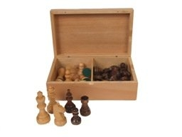 "Classic Game Collection Staunton Wood 3"" Chessmen"