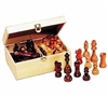 "Classic Game Collection Staunton Wood 3-1/2"" Chessmen"