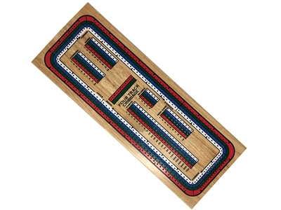 Jumbo Track 4 Color Cribbage Board